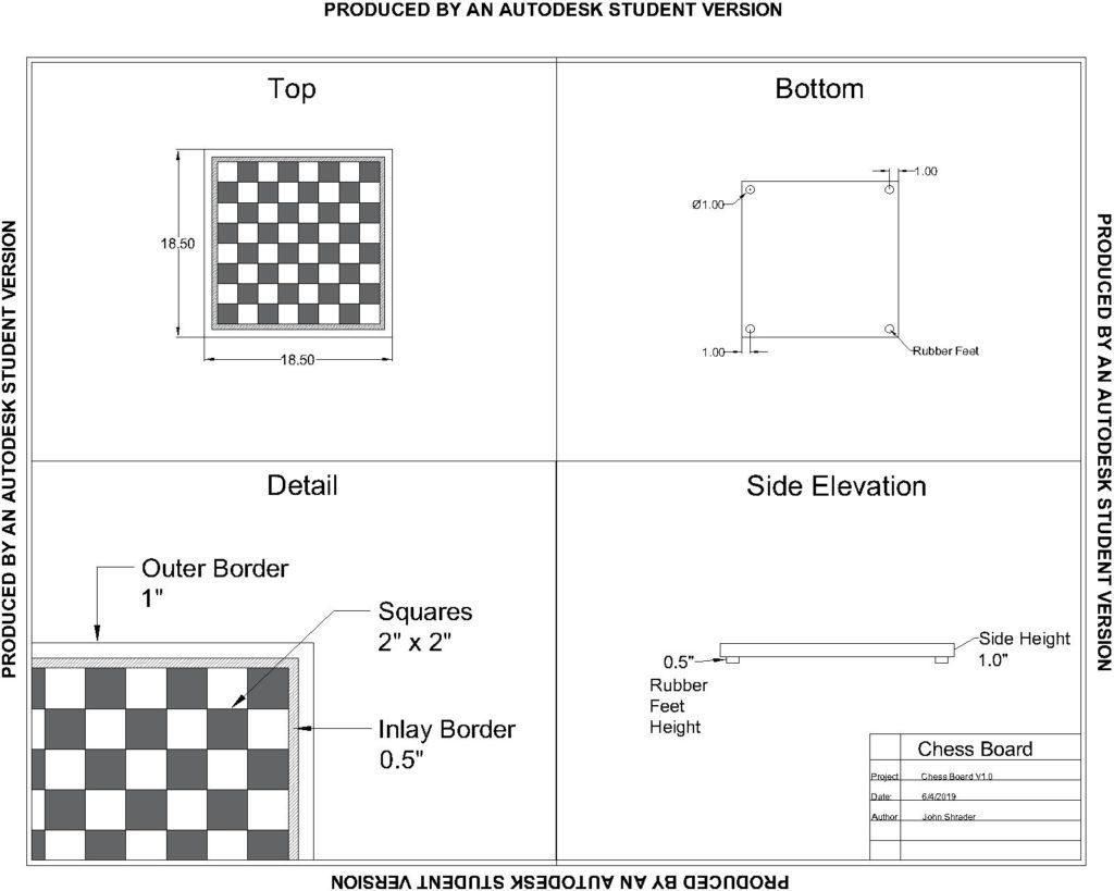 Making a Chess Board – John Shrader  com